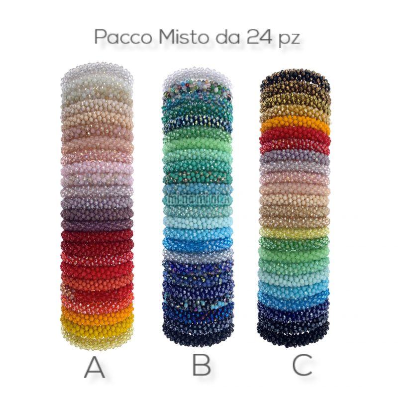BCE1413-Cristalli Mix-24 Pz Mix Bracciali Elastico