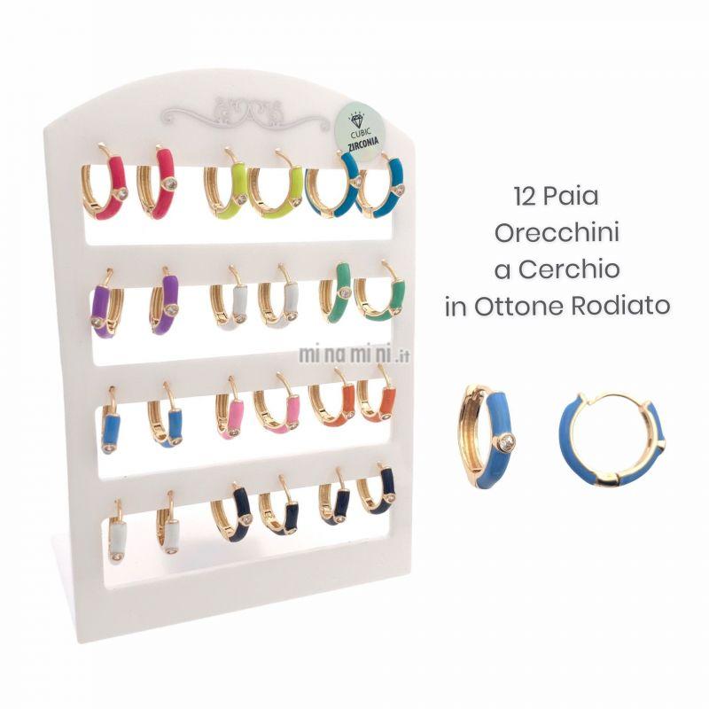 OPM109-30-Cerchio con P.luce-12 Paia Orecchini