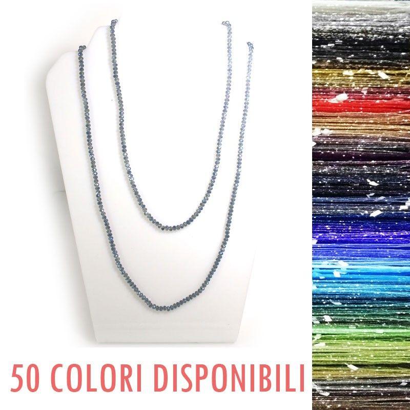 Collana elastica con cristallo - 70 colori