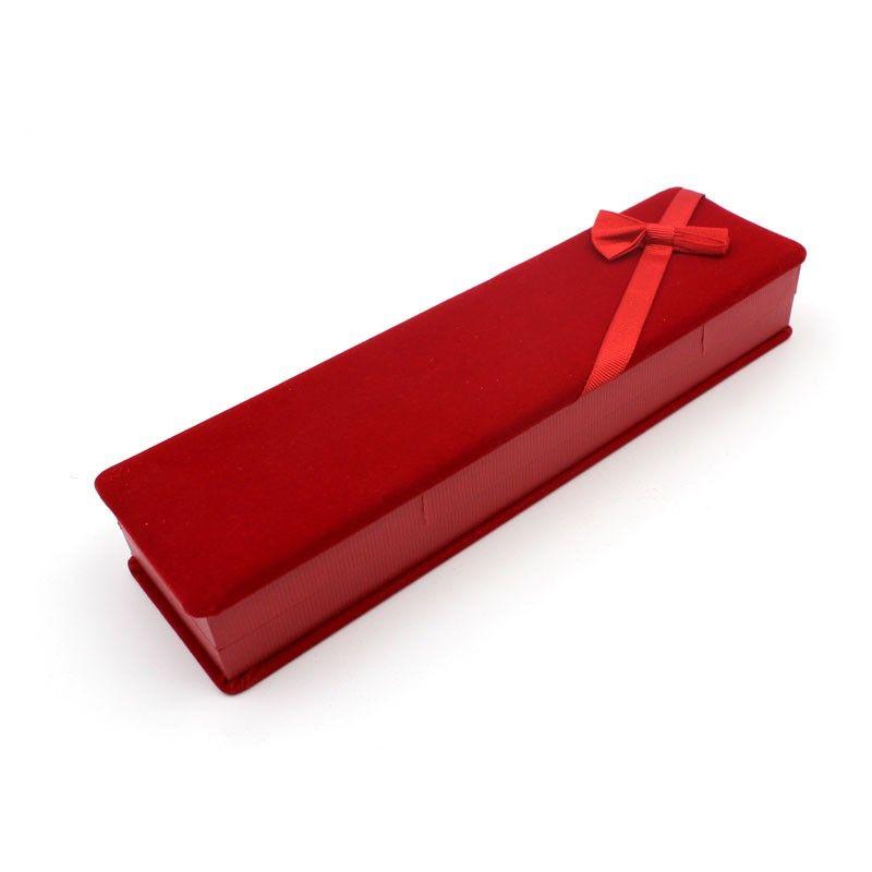Scatolina regalo velluto rosso con fiocco per Bracciale