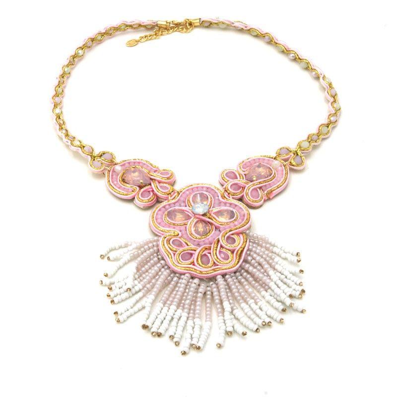 Collana Handmade a forma fiore e campanella - 7 colori