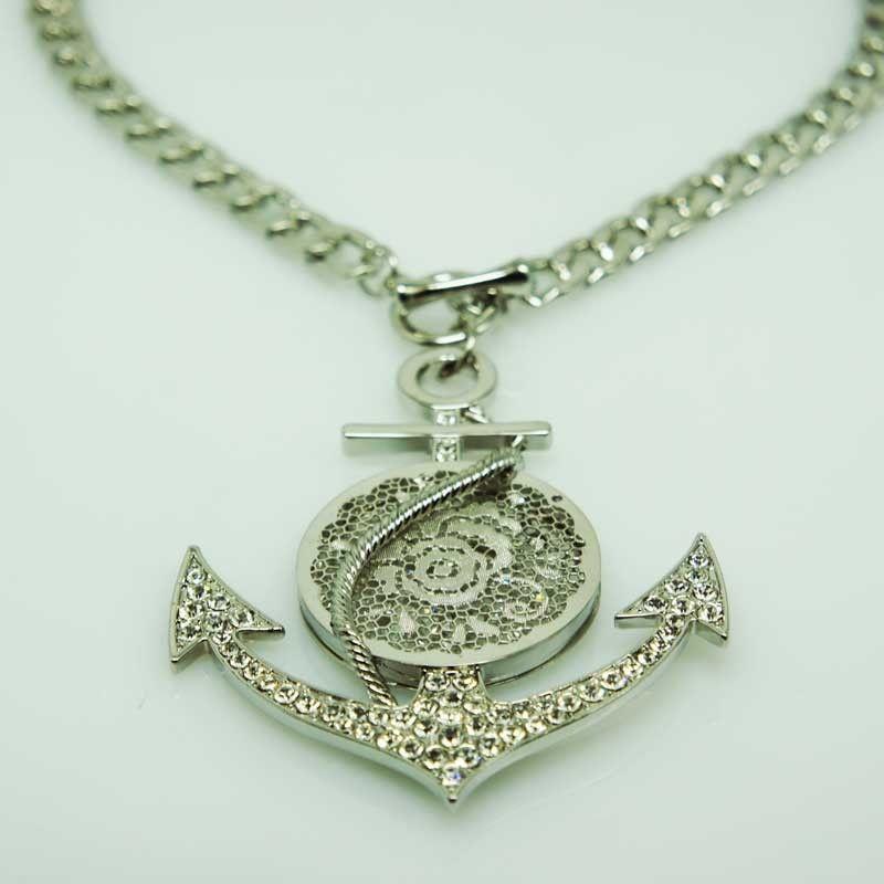 Collana girocollo àncora - argento