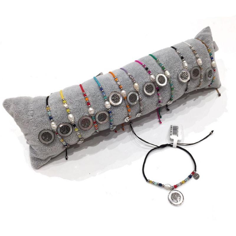 Bracciali Colorati a filo e acciaio con Albero della vita - pacco da 12pz + Cuscino in omaggio