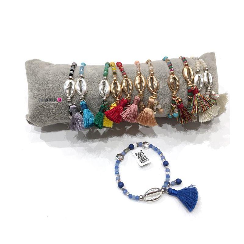Bracciali cristalli con Conchiglia in metallo - Pacco 12pz + Cuscino In Omaggio