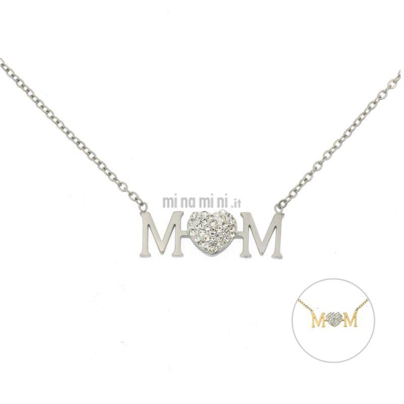CAC-Mom 5309 - Collana Girocollo in Acciaio