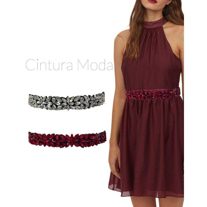 CIN5876-Foglia-Cintura con Pietre Colorate