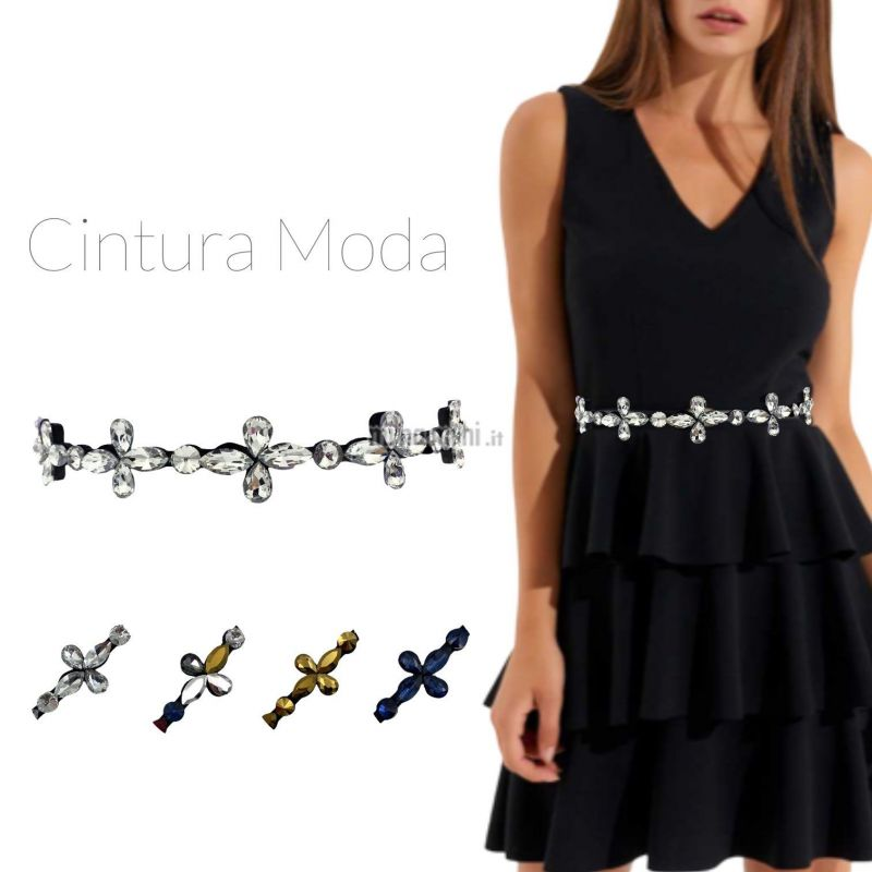 CIN5882-Fiore-Cintura con Pietre Colorate