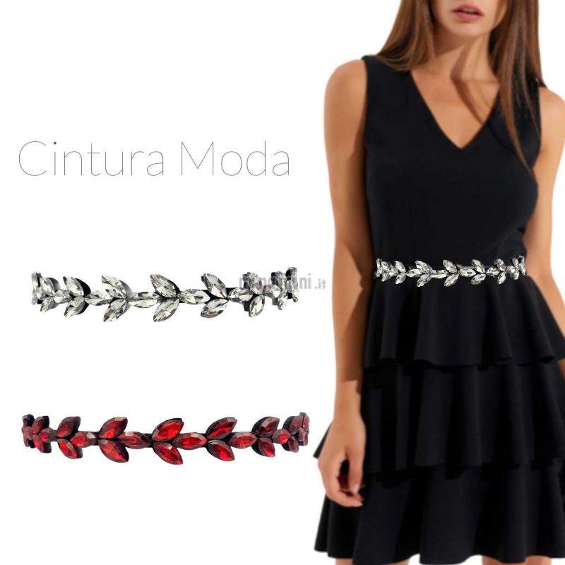 CIN5883-Foglia-Cintura con Pietre Colorate