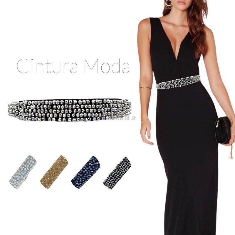 CIN5891-Cristalli-Cintura con Pietre Colorate