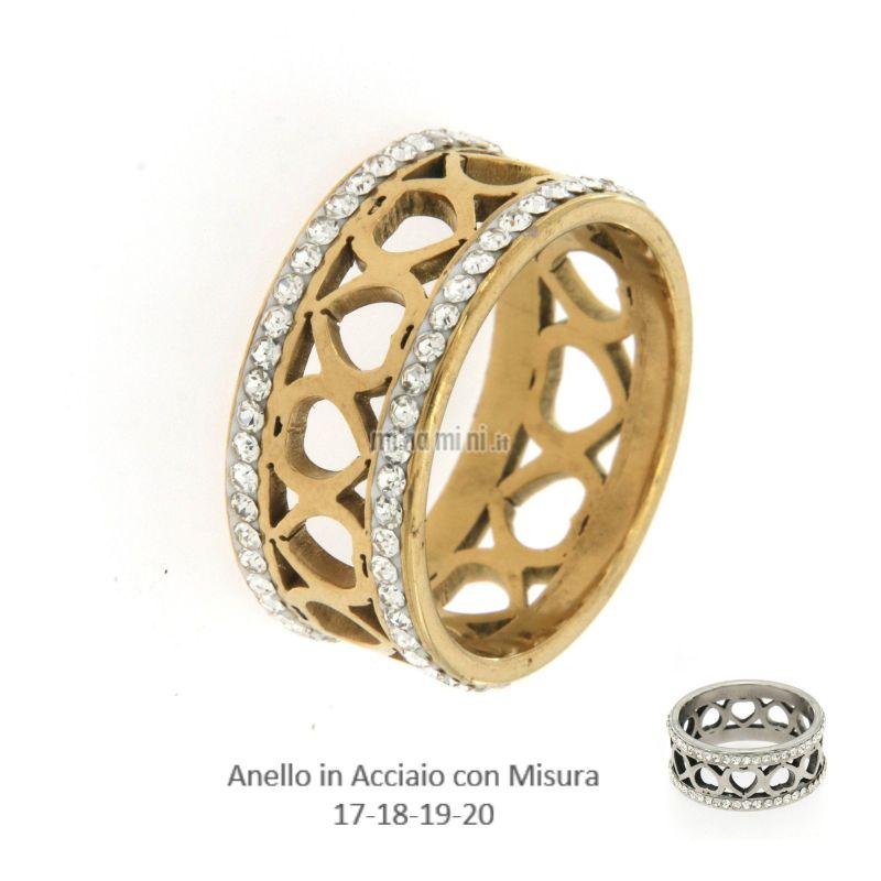 AAM-Cuore 5486 - Anello in Acciaio