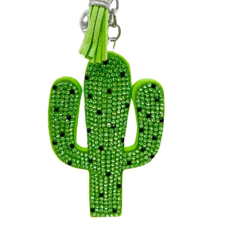 PKS6915-Cactus Portachiavi in Similpelle